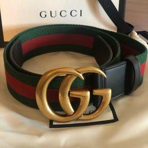 Authentic Gucci Nylon Web Belt